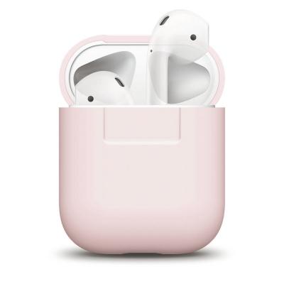 Силиконовый чехол для AirPods Elago Silicone Case Розового цвета