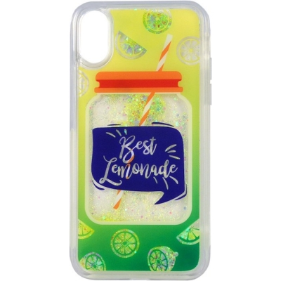 Защитный чехол iCover для iPhone X Hard Sparkle (Liquid) Lemonade