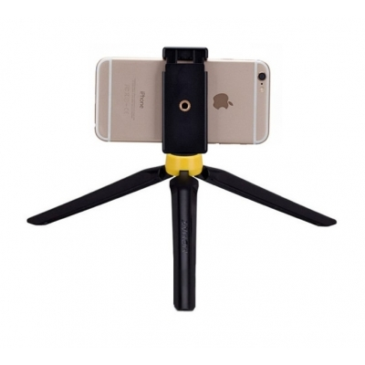 Штатив Momax Selfie Tripod Черный / Желтый