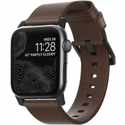 Ремешок Nomad Modern Strap для Apple Watch 42mm / 44mm Black / Rustic Brown