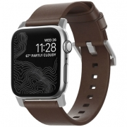Ремешок Nomad Modern Strap для Apple Watch 38mm / 40mm Silver / Rustic Brown