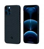 Чехол Pitaka MagEZ Case для iPhone 12 / 12 Pro Twill Black / Blue