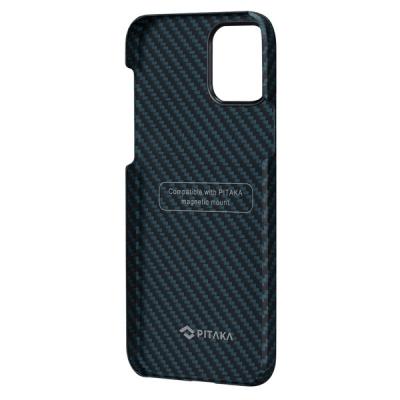 Чехол для iPhone 12 / 12 Pro Pitaka MagEZ Case Черный / Синий