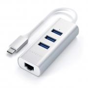 Адаптер Satechi Type-C 2-in-1 USB 3.0 & Ethernet Silver