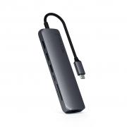 Адаптер Satechi USB-C Slim Multi-Port with Ethernet Adapter Space Gray