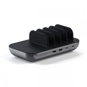 Зарядная станция Satechi Dock5 Multi-Device Charging Station with Wireless Charging Space Gray